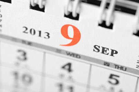 September of 2013 calendar on black background Stock Photo - 16959665