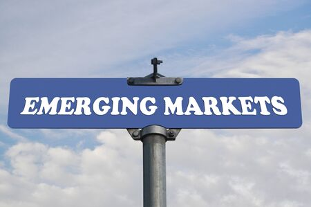 emerging markets: Emerging markets road sign