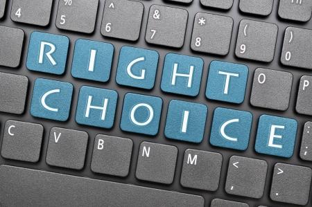Right choice on keyboard Stock Photo - 16959745