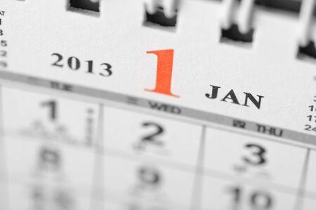 January of 2013 calendar on black background Stock Photo - 16959660