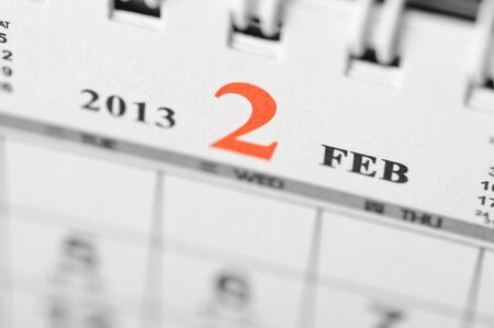 February of 2013 calendar on black background Stock Photo - 16959649