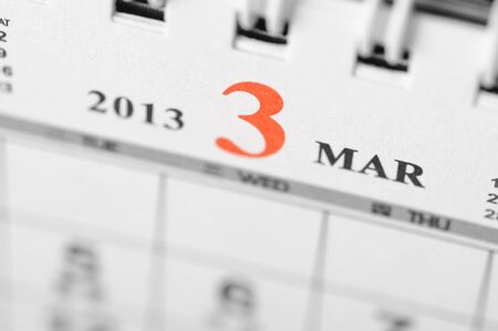 March of 2013 calendar on black background Stock Photo - 16959630