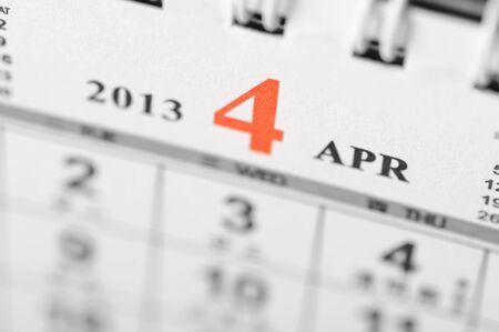 April of 2013 calendar on black background Stock Photo - 16959651