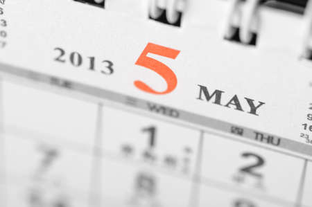 May of 2013 calendar on black background Stock Photo - 16959648