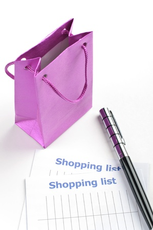 Shopping list for your holiday  Stock Photo - 17124633