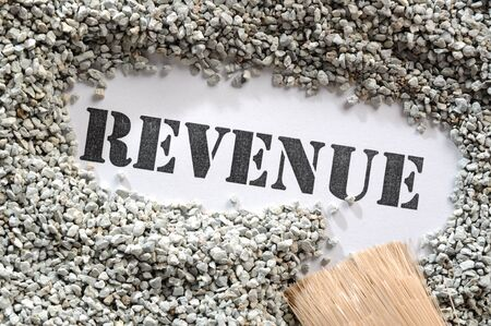 Revenue -- Treasure Word Series  Stock Photo - 17124688