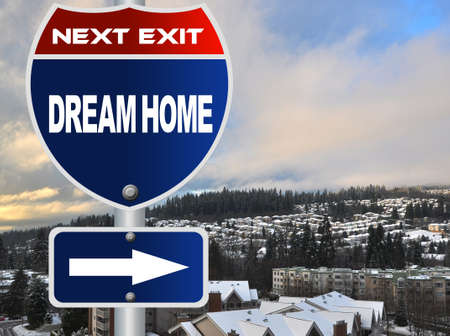 Dream home road sign Stock Photo - 17124639