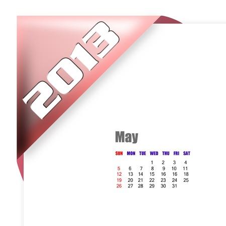 scheduler: 2013 May calendar on white background