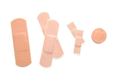 band aid: hesive bandage on white background