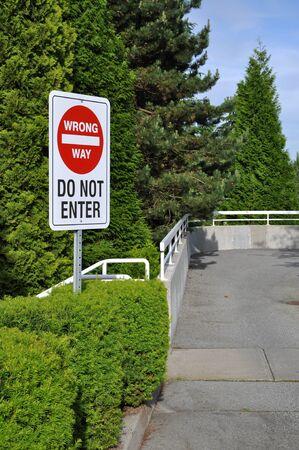 do not enter: Do not enter wrong way sign