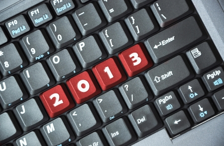 Red 2013 key on keyboard Stock Photo - 17747043