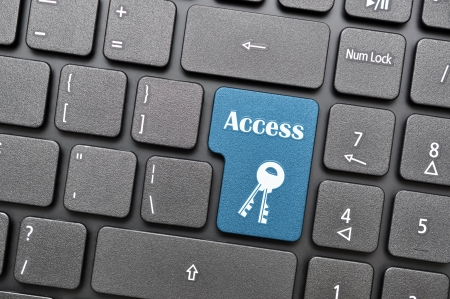 Blue access key on keyboard Stock Photo - 17747045
