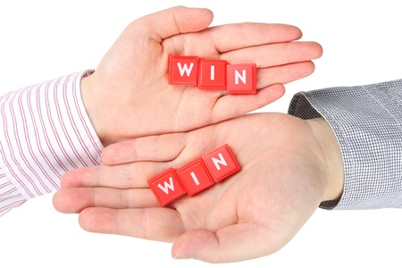Abstract the best way; both win Stock Photo - 17747039