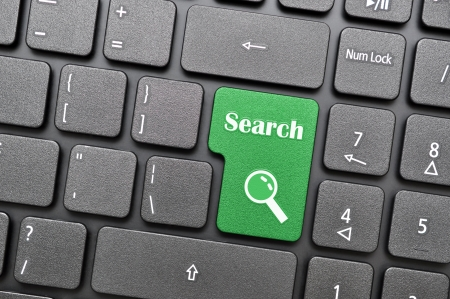 Green search key on keyboard Stock Photo - 17888975