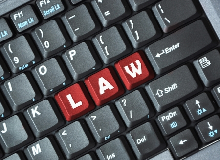 Red law key on keyboard Stock Photo - 17889201