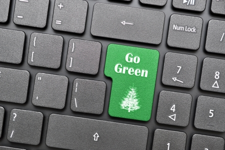 Green go green key on keyboard Stock Photo - 17889207