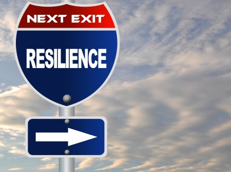 Resilience road sign Stock Photo