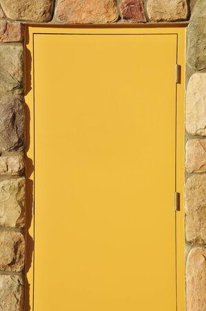 empty warehouse: Empty door in front of warehouse for employee entrance