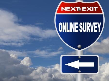 online survey: Online survey road sign