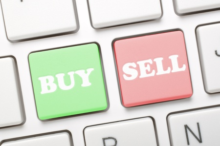Buy and sell key on keyboard  Stock Photo - 19912101