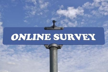 Online survey road sign photo