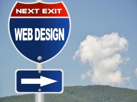Web design road sign photo