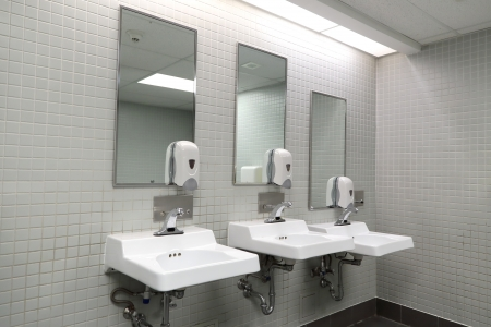 Clean new public toilet room empty  Stock Photo - 20839454