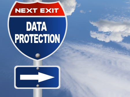 data: Data protection road sign