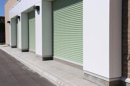Garage doors at a modern building  photo