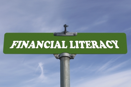 Financial literacy road sign
