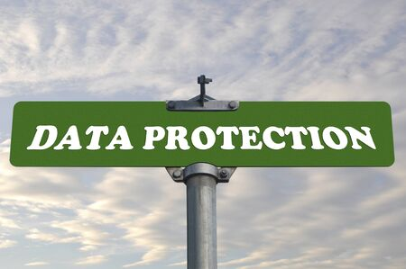 data: Data protection road sign  Stock Photo