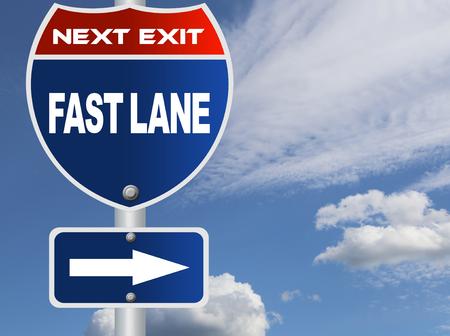 fast lane: Muestra de camino de carril r�pido