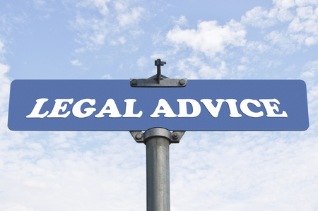 legal advice: Legal advice road sign