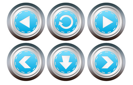 Webstise buttons on white background photo