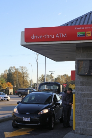 machines: Drive-thru ATM