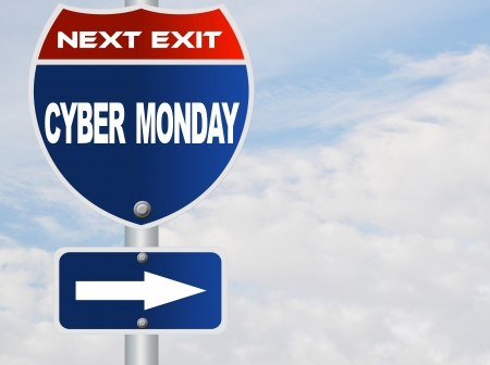 Cyber Monday road sign