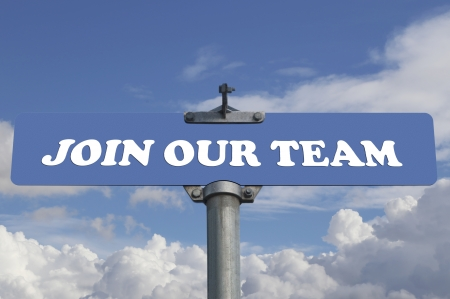 Join our team road sign Stock Photo