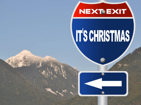 It is Christmas road sign photo
