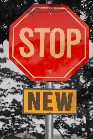 New stop sign photo