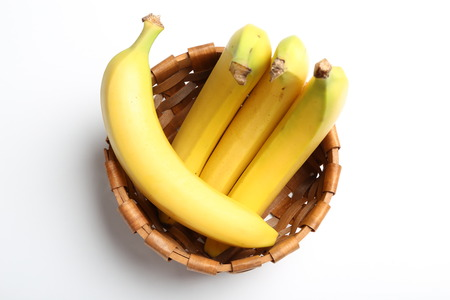 Banana on basket photo