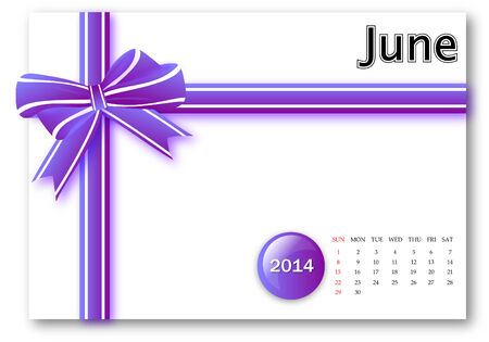June of 2013 calendar with gift pack design photo