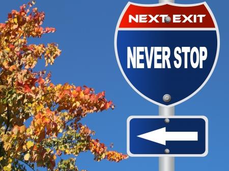 nunca: Nunca deje de se�al de tr�fico