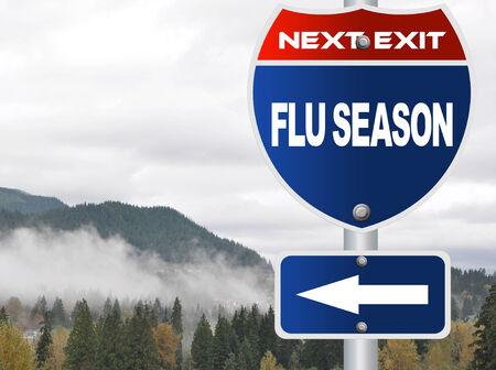 Flu season road sign