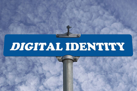 Digital identity road sign photo