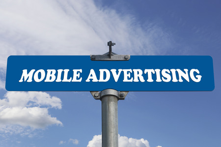Mobile advertising road sign photo