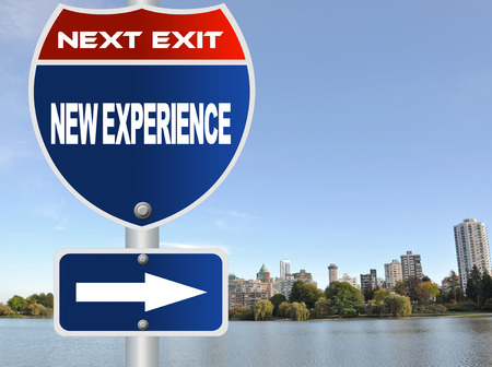 New experience road sign photo