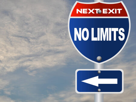 No limits road sign  photo