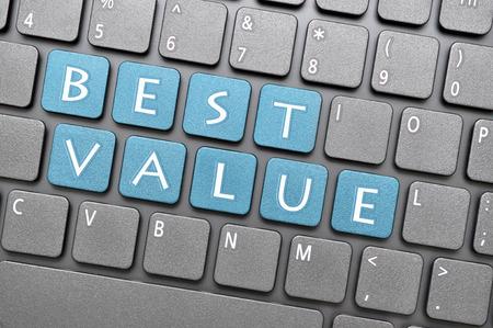 best: Blue best value key on keyboard