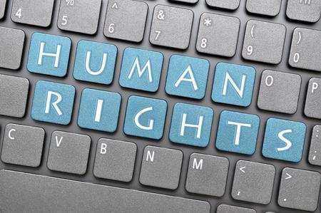 diritti umani: Diritti umani sulla tastiera Archivio Fotografico