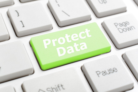 protect: Green protect data key on keyboard